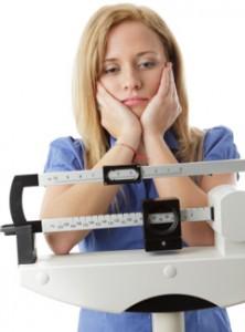 Mujer que no está perdiendo peso
